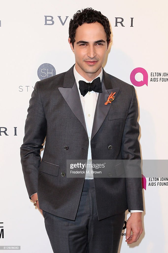 Designer Zac Posen attends the 24th Annual Elton John AIDS Foundation's Oscar Viewing Party on February 28 2016 in West Hollywood California