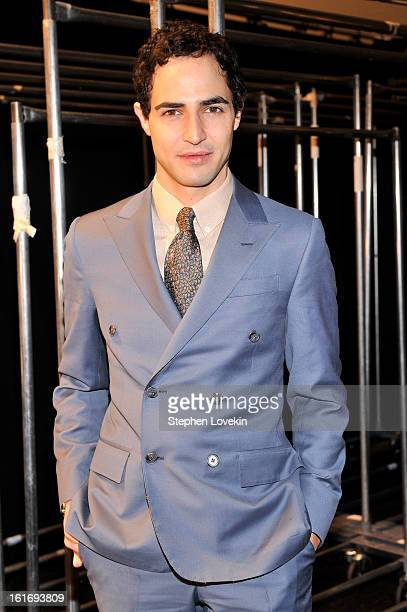 Designer Zac Posen attends The Decoded Fashion Forum Hackathon Finale Fall 2013 fashion show during MercedesBenz Fashion Week at The Stage at Lincoln...
