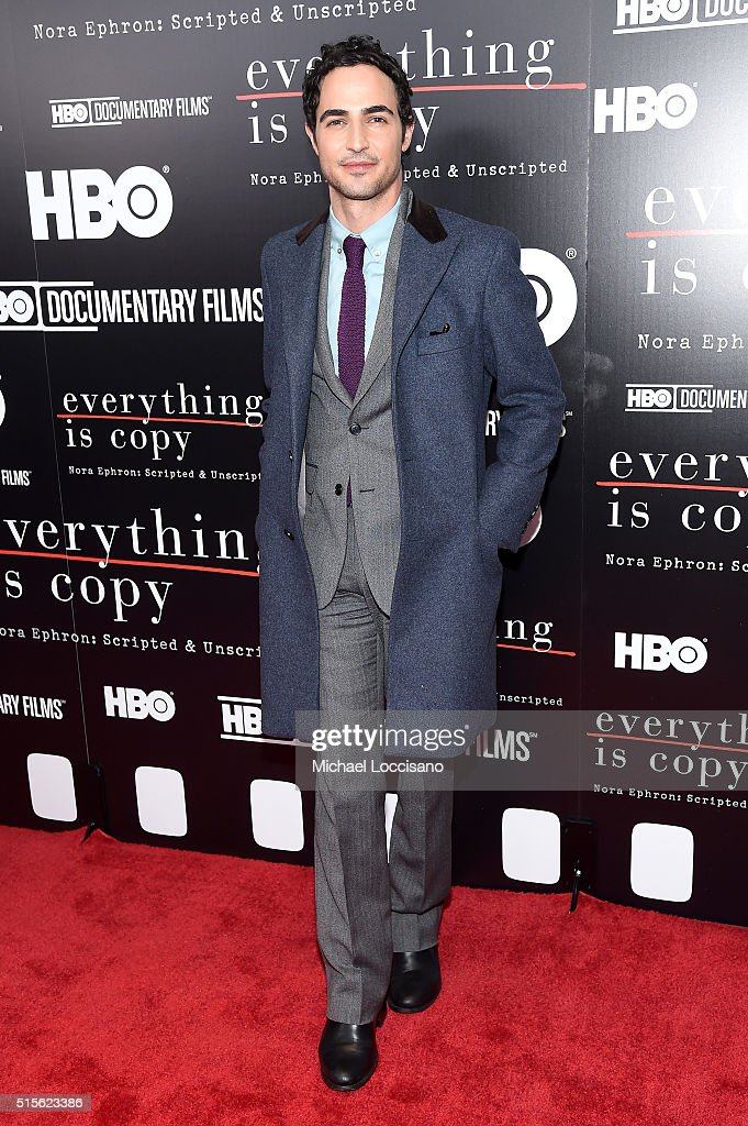 Designer Zac Posen attends the New York special screening of 'Everything Is Copy Nora Ephron Scripted Unscripted' at The Museum of Modern Art on...