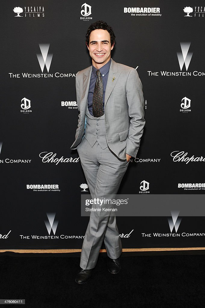 Designer <a gi-track='captionPersonalityLinkClicked' href=/galleries/search?phrase=Zac+Posen+-+Fashion+Designer&family=editorial&specificpeople=4442066 ng-click='$event.stopPropagation()'>Zac Posen</a> attends the Weinstein Company Academy Award party hosted by Chopard on March 1, 2014 in Beverly Hills, California.