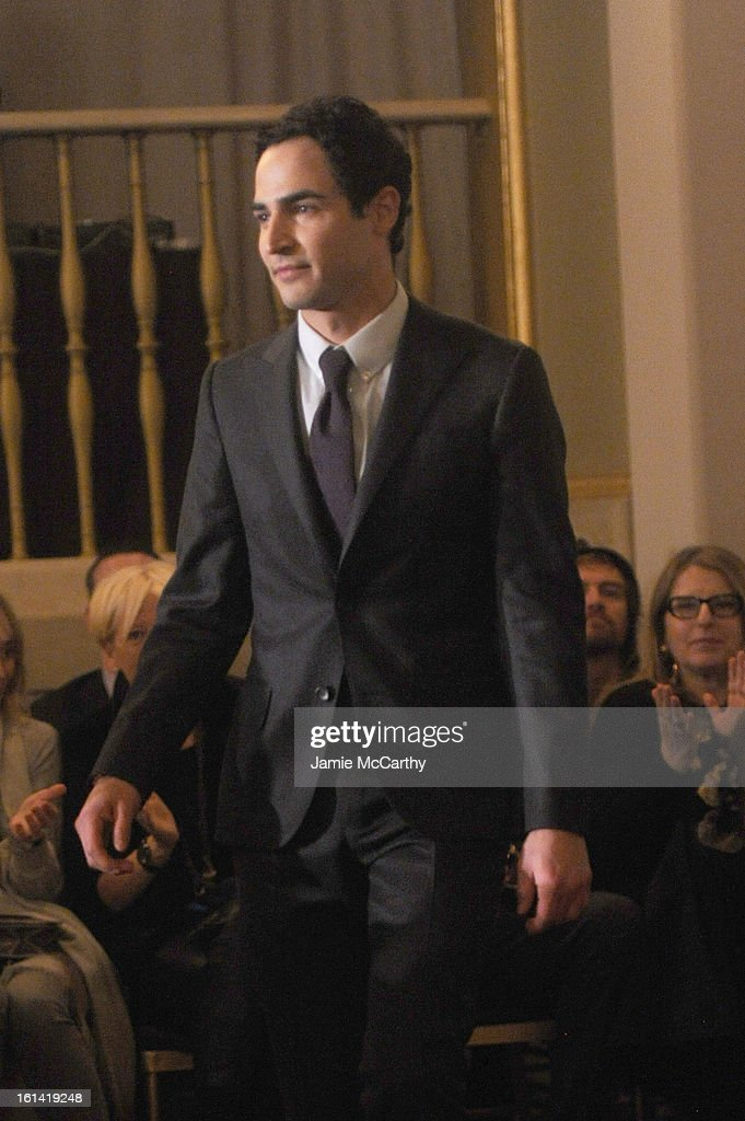 Designer Zac Posen attends the Zac Posen Fall 2013 fashion show during Mercedes-Benz Fashion Week on February 10, 2013 in New York City.