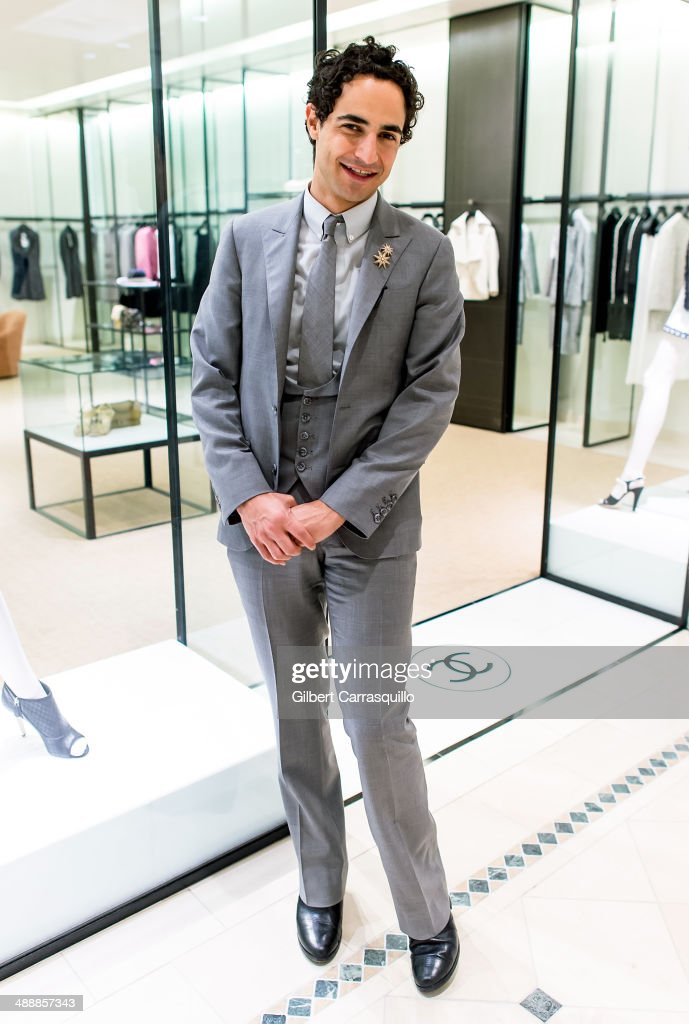 Designer <a gi-track='captionPersonalityLinkClicked' href=/galleries/search?phrase=Zac+Posen+-+Fashion+Designer&family=editorial&specificpeople=4442066 ng-click='$event.stopPropagation()'>Zac Posen</a> attends the <a gi-track='captionPersonalityLinkClicked' href=/galleries/search?phrase=Zac+Posen+-+Fashion+Designer&family=editorial&specificpeople=4442066 ng-click='$event.stopPropagation()'>Zac Posen</a> Pre-Fall And Fall 2014 Collections Preview at Saks Fifth Avenue on May 8, 2014 in Bala-Cynwyd, Pennsylvania.