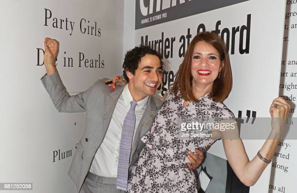 Designer Zac Posen poses with writer Plum Sykes during her book launch celebration for 'Party Girls Die In Pearls' at Brooks Brothers on May 9 2017...