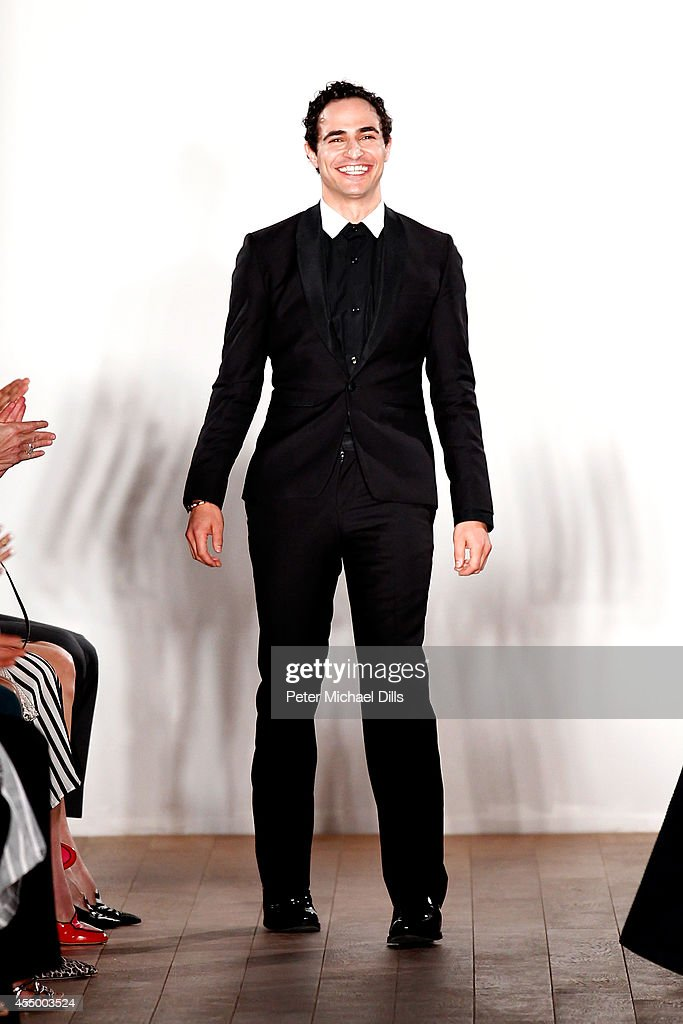 Designer Zac Posen walks the runway at the Zac Posen fashion show during MercedesBenz Fashion Week Spring 2015 on September 8 2014 in New York City