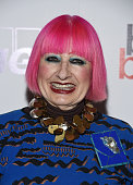 Designer Zandra Rhodes arrives at the BABC LA 56th Annual Christmas Luncheon at the Fairmont Miramar Hotel on December 11 2015 in Santa Monica...