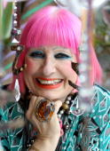 Designer Zandra Rhodes poses for a photograph in her studio on May 11 2010 in London England Noelle Reno will today launch her new range 'Z' in...
