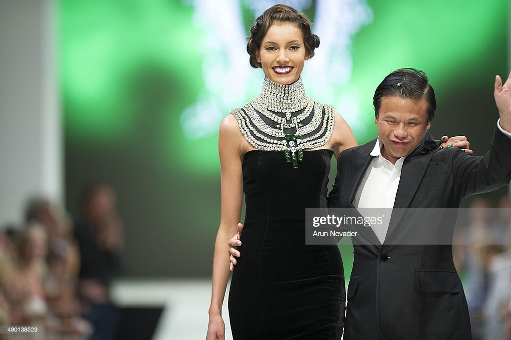 Designer Zang Toi appears on the runway during his fashion show at El Paseo Fashion Week Fall 2014 on March 22, 2014 in Palm Desert, California.