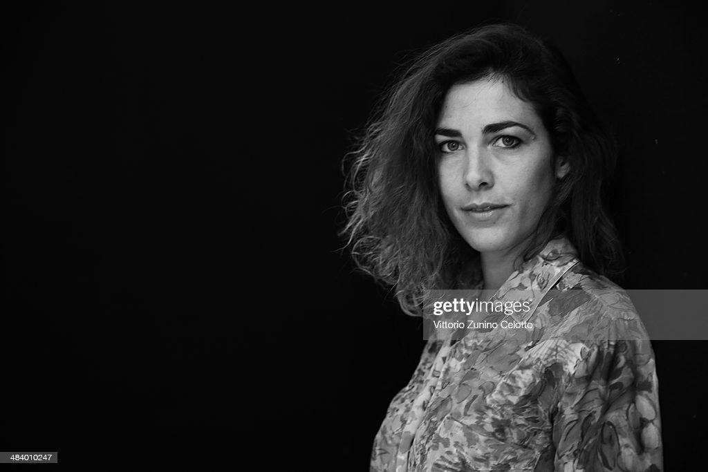 Designer Zazie Gnecchi Ruscone poses for a portrait session on April 10, 2014 in Milan, Italy.