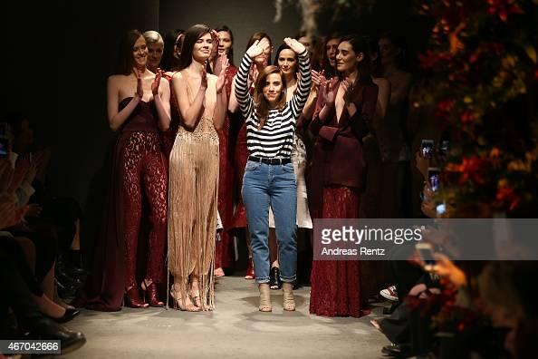 Designer Zeynep Erdogan attends her show during Mercedes Benz Fashion Week Istanbul FW15 on March 20 2015 in Istanbul Turkey