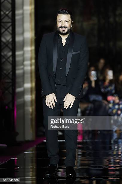 Designer Zuhair Murad walks the runway during the Zuhair Murad Spring Summer 2017 show as part of Paris Fashion Week on January 25 2017 in Paris...