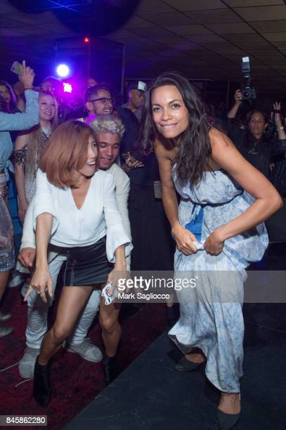 Designer/Actress Rosario Dawson attends the Studio 189 By Rosario Dawson and Abrima Erwiah After Party September 2017 New York Fashion Week at The...