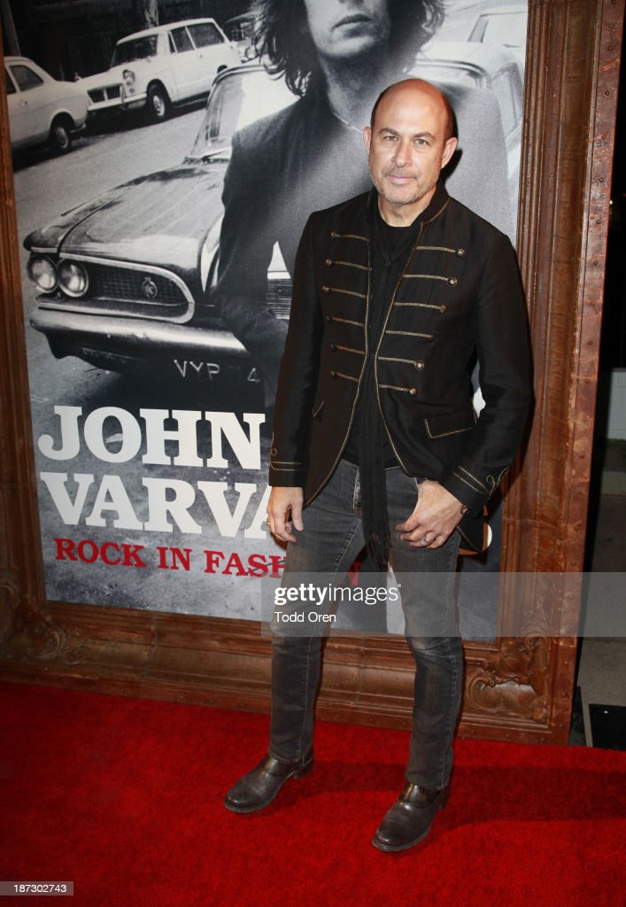 Designer/author John Varvatos arrives to the 'John Varvatos: Rock In Fashion book launch celebration held at John Varvatos Los Angeles on November 7, 2013 in Los Angeles, California.