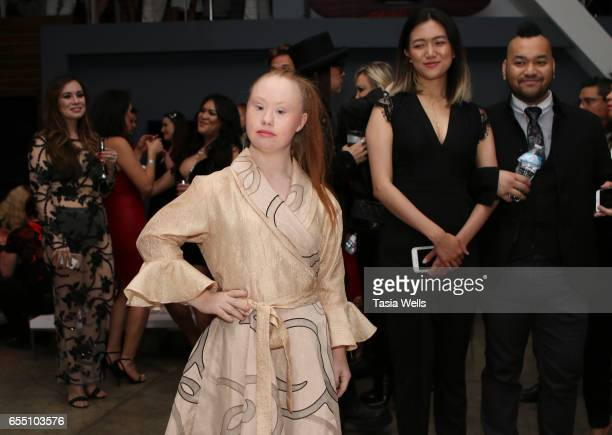 Designer/model Madeline Stuart attends Art Hearts Fashion LAFW Fall/Winter 2017 at Le Jardin on March 18 2017 in Hollywood California