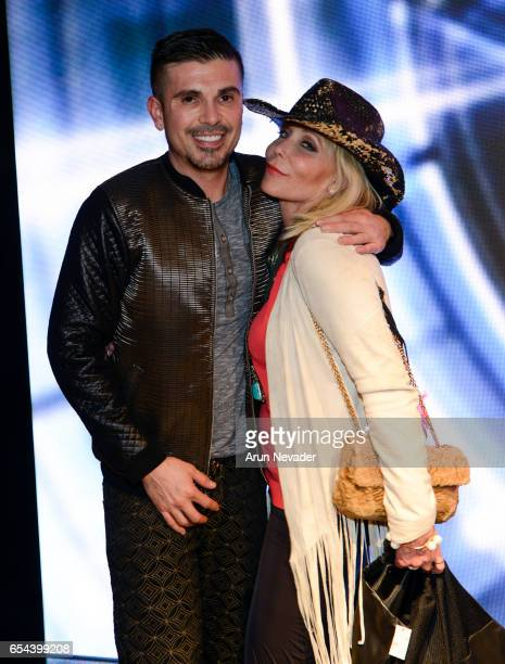 Designer/producer Erik Rosete and actress Pamela BachHasselhoff attend Art Hearts Fashion LAFW Fall/Winter 2017 Day 3 at The Beverly Hilton Hotel on...