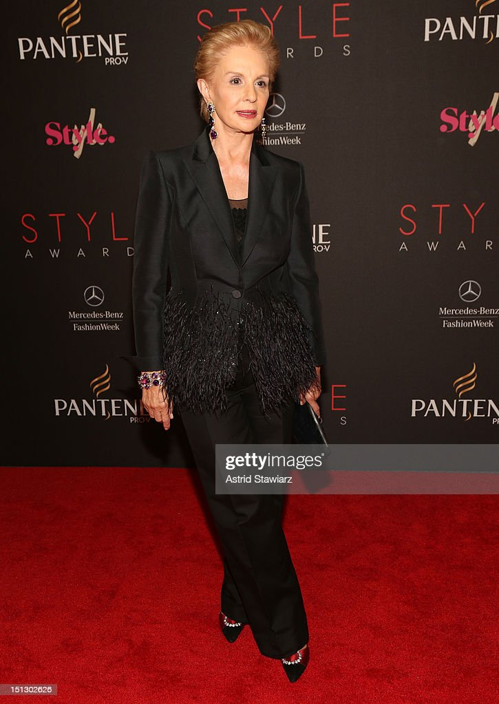 Designerr Carolina Herrera attends the 9th annual Style Awards during Mercedes-Benz Fashion Week at The Stage at Lincoln Center on September 5, 2012 in New York City.