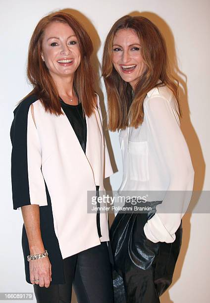 Designers Alexandra Smart and Genevieve Smart backstage ahead of the Ginger And Smart show during MercedesBenz Fashion Week Australia Spring/Summer...