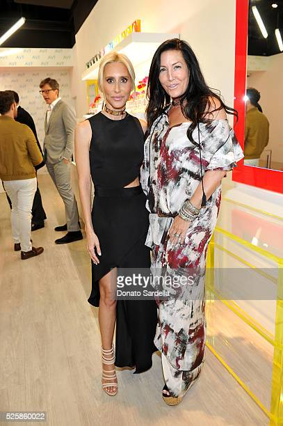Designers Alexandra von Furstenberg and Windsor Smith attend the opening of the Alexandra Von Furstenberg Los Angeles flagship store on April 28 2016...