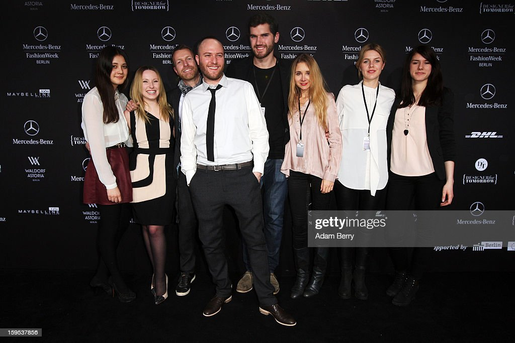 Designers and guests attend Marc Stone Autumn/Winter 2013/14 fashion show during Mercedes-Benz Fashion Week Berlin at Brandenburg Gate on January 15, 2013 in Berlin, Germany.