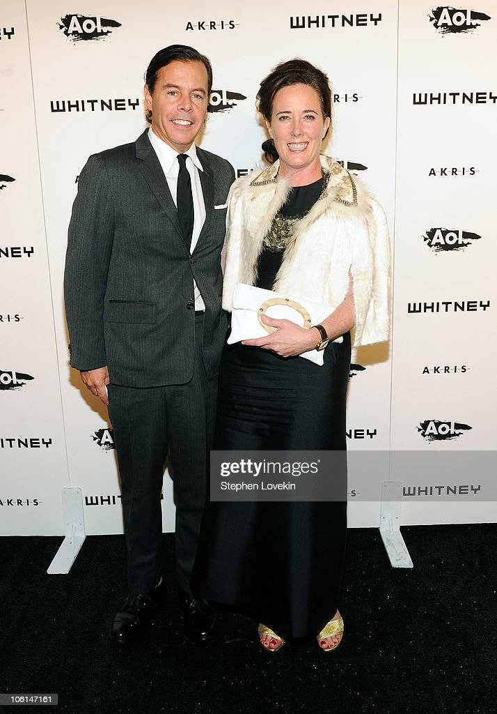 Designers <a gi-track='captionPersonalityLinkClicked' href=/galleries/search?phrase=Andy+Spade&family=editorial&specificpeople=651542 ng-click='$event.stopPropagation()'>Andy Spade</a> and Kate Spade attend the 2010 Whitney Gala and Studio Party at The Whitney Museum of American Art on October 26, 2010 in New York City.