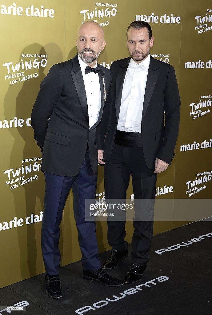 Designers Arnaud Maillard and Alvaro Castejon Alvarno attend the 2015 Marie Claire Prix de la Mode at Callao Cinema on November 19 2015 in Madrid...