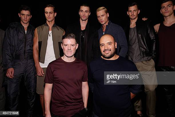 Designers Brad Schmidt and Raul Arevalo pose during their Cadet Spring Summer 2015 The Modern Nomad Collection at 'The Esquire' at 286 Spring Street...