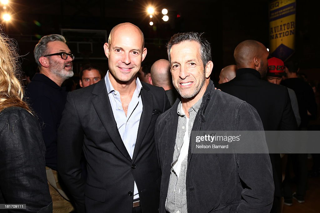 Designers Chris Mitchell and Kenneth Cole attend the GQ & Gap event to celebrate 2013 Best New Menswear Designers Collaboration on September 23, 2013 in New York City.