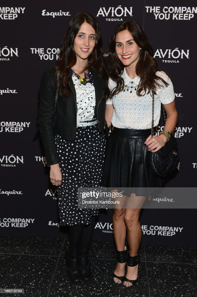 Designers Danielle Snyder and Jodie Snyder attends 'The Company You Keep' New York Premiere at MOMA on April 1, 2013 in New York City.