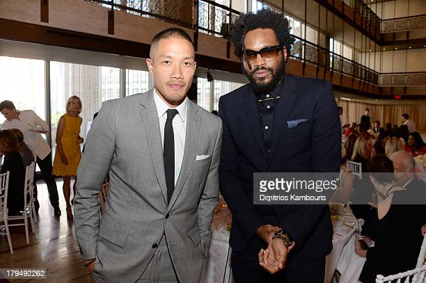 Designers DaoYi Chow and Maxwell Osborne attend The Couture Council of The Museum at the Fashion Institute of Technology hosted luncheon honoring...