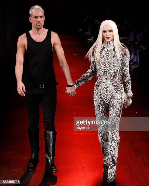 Designers David Blond and Phillipe Blond walk the runway during The Blonds' Fall 2017 fashion show during New York Fashion Week at Gallery 1 Skylight...