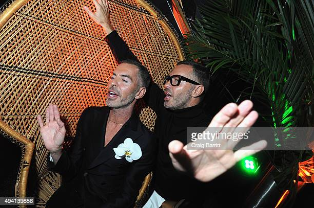 Designers Dean and Dan Caten attend as Dean and Dan Caten celebrate their one year US retail anniversary with a private party at The Halston House on...