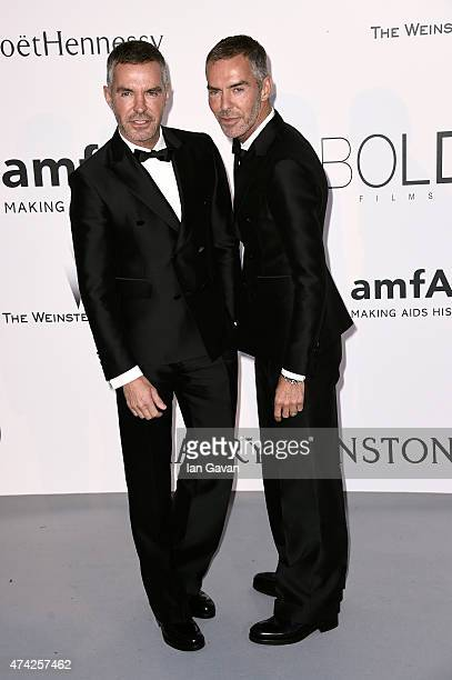 Designers Dean Caten and Dan Caten attend amfAR's 22nd Cinema Against AIDS Gala Presented By Bold Films And Harry Winston at Hotel du CapEdenRoc on...