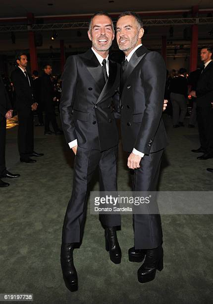 Designers Dean Caten and Dan Caten attend the 2016 LACMA Art Film Gala Honoring Robert Irwin and Kathryn Bigelow Presented By Gucci at LACMA on...
