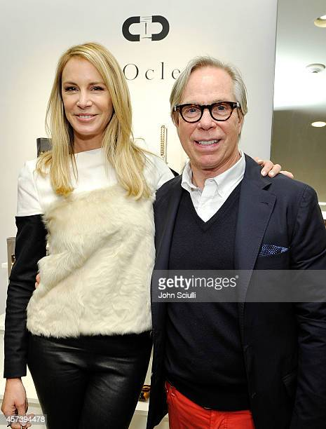 Designers Dee Ocleppo and Tommy Hilfiger attend Dee Ocleppo PA at Saks Fifth Avenue Beverly Hills on October 17 2014 in Beverly Hills California