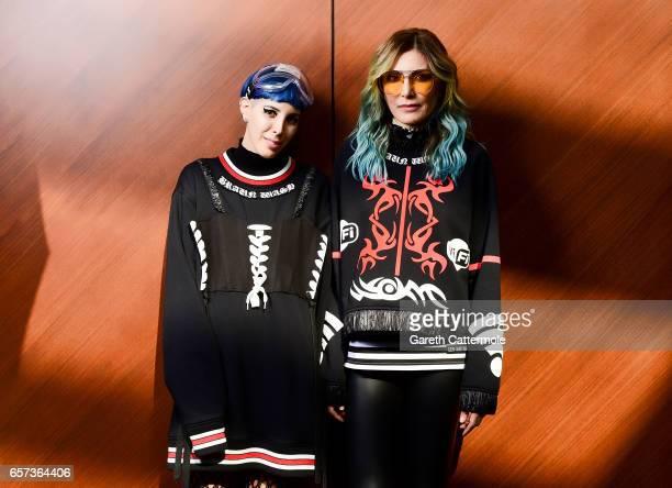Designers Deniz Berdan and Begum Berdan pose for a portrait during MercedesBenz Istanbul Fashion Week March 2017 at Grand Pera on March 22 2017 in...