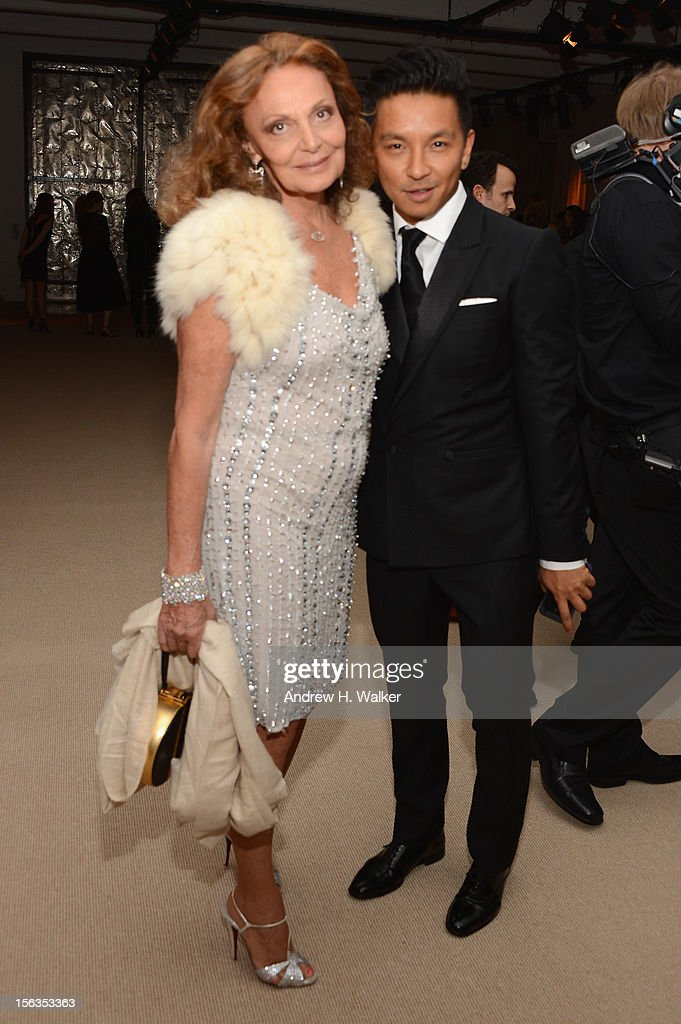 Designers Diane von Furstenberg and Prabal Gurung attend The Ninth Annual CFDA/Vogue Fashion Fund Awards at 548 West 22nd Street on November 13, 2012 in New York City.