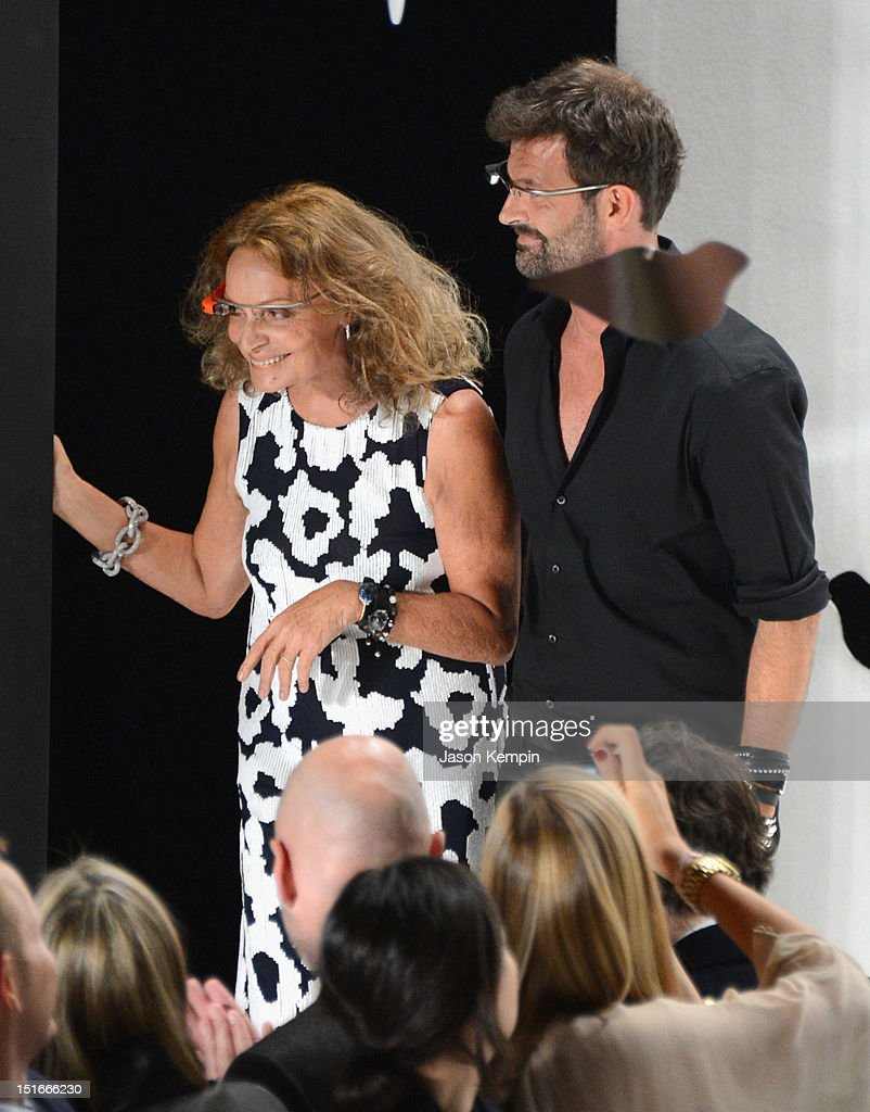 Designers Diane Von Furstenberg and Yvan Mispelaere attends the Diane Von Furstenberg show during Spring 2013 Mercedes-Benz Fashion Week at The Theatre at Lincoln Center on September 9, 2012 in New York City.