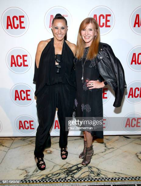 Designers Donna Karan and Nicole Miller attend the 2017 ACE Gala at Capitale on May 23 2017 in New York City