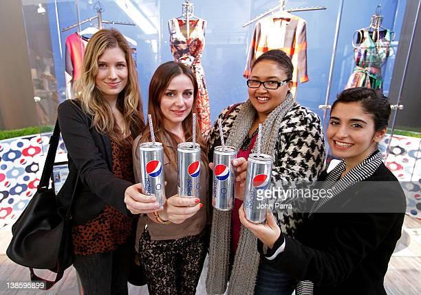 Designers Elisa Bergman Genoveva Christoff Rachel Hurst and Shirin Askari attend Diet Pepsi x Christian Cota Capsule Collection Preview at Diet Pepsi...