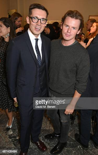 Designers Erdem Moralioglu and Christopher Kane attend the launch of the first Erdem flagship store on September 9 2015 in London England