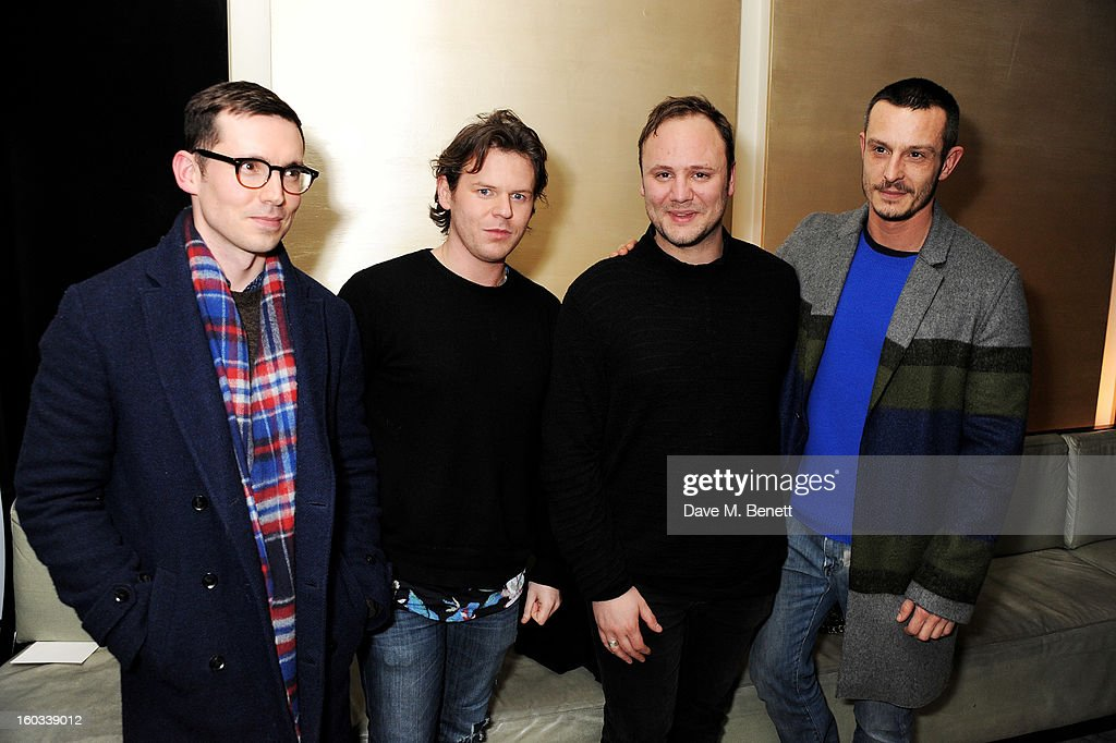 Designers Erdem Moralioglu, Christopher Kane, Nicholas Kirkwood and Jonathan Saunders attend the BFC/Vogue Designer Fashion Fund winners announcement at Nobu Berkeley on January 29, 2013 in London, England.