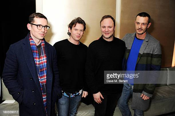 Designers Erdem Moralioglu Christopher Kane Nicholas Kirkwood and Jonathan Saunders attend the BFC/Vogue Designer Fashion Fund winners announcement...