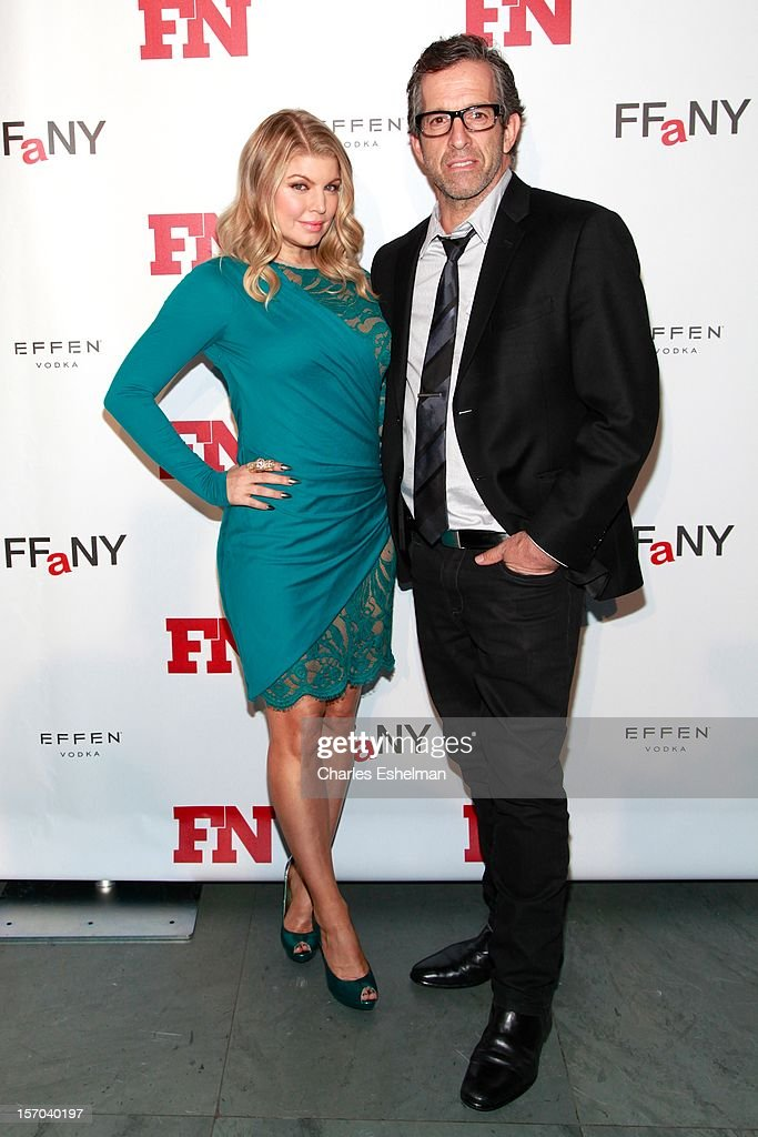 Designers Fergie and Kenneth Cole attend the 2012 Footwear News Achievement awards at The Museum of Modern Art on November 27, 2012 in New York City.