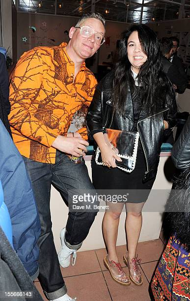 Designers Giles Deacon and Simone Rocha attend the Stylecom dinner celebrating London fashion hosted by editorinchief Dirk Standen at Shrimpy's in...
