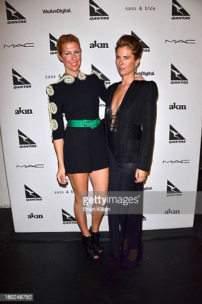 Designers Heidi Middleton and Sarah Jane Clarke attend the Sass Bide show during Spring 2014 MercedesBenz Fashion Week at Classic Car Club on...