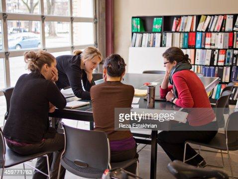 Designers in meeting : Stock Photo