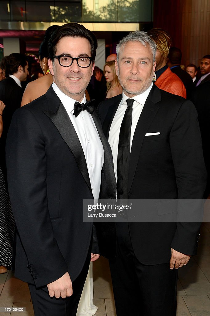 Designers Isaac Franco (L) and Ken Kaufman of Kaufmanfranco attend the 2013 Fragrance Foundation Awards at Alice Tully Hall at Lincoln Center on June 12, 2013 in New York City.