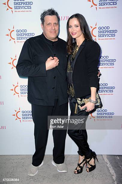 Designers Isaac Mizrahi and Georgina Chapman attend the Good Shepherd Services Spring Party 2015 hosted by Isaac Mizrahi on April 16 2015 in New York...