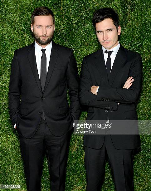 Designers Jack McCollough and Lazaro Hernandez of Proenza Schouler attend the 12th annual CFDA/Vogue Fashion Fund Awards at Spring Studios on...