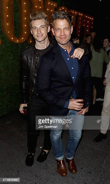 Designers Jeremiah Brent and Nate Berkus attend the Bravo Presents a special screening of 'Odd Mom Out' after party at Casa Lever on June 3 2015 in...