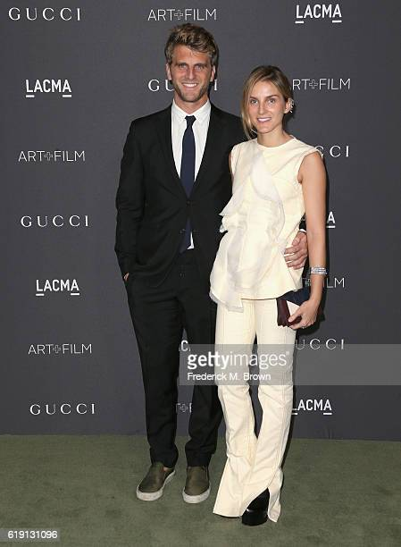 Designers Jeremy Everett and Gaia Repossi attend the 2016 LACMA Art Film Gala honoring Robert Irwin and Kathryn Bigelow presented by Gucci at LACMA...